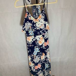 Lauren Conrad Floral Slit Maxi Dress